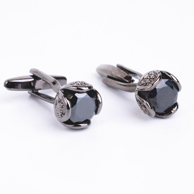 Novelty Luxury Rhinestone Cufflinks For Mens Brand High Quality Crystal Gold Silver Cufflinks Shirt Cuff Links