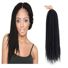 Senegalese Twist Crochet Hair Small Havana Mambo Twist Crochet Braiding Hair Extensions For Black Women Synthetic DIY Box Braids(China)