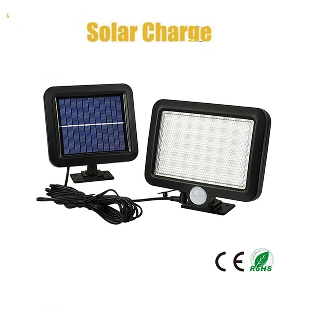 30 LED Solar Power PIR Motion Sensor Security Garden Light 3 Side Wall Lamp Xmas