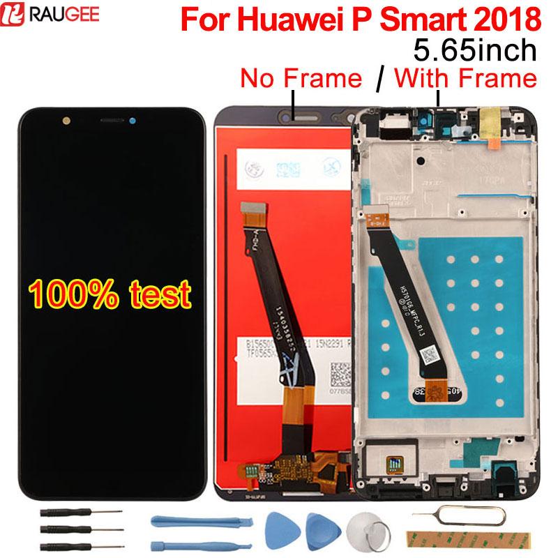 Para Huawei P Smart Display LCD + de Tela de Toque com Quadro Novo Digitador Da Tela de Substituição Do Painel de Vidro Para Huawei P inteligente 2018 lcd