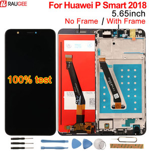 Image 1 - Pour Huawei P Smart LCD affichage + écran tactile avec cadre nouveau numériseur écran panneau de verre remplacement pour Huawei P Smart 2018 lcd