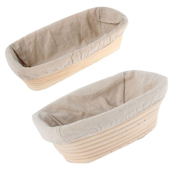 Bread Basket Banneton Brotform Rattan Proofing Basket Liner Round Oval Fruit Tray Dough Food Storage Container Organizer Baskets