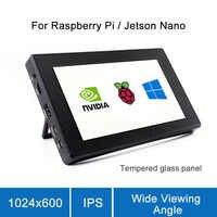 Raspberry Pi 4 Modelo B/3B +/3B Pantalla de 7 pulgadas con pantalla LCD funda 7 Monitor pantalla táctil capacitiva 1024x600 IPS