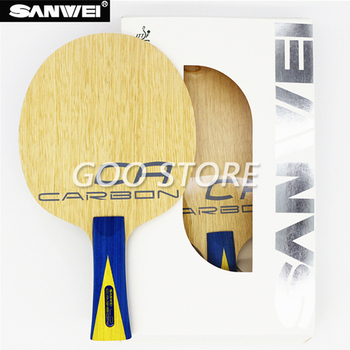 SANWEI CA LD Table tennis blade 5 plywood+ 2 LD carbon fiber Lymphoid surface ayous core all-round ping pong racket bat paddle sanwei f3 pro table tennis blade 5 wood 2 arylate carbon premium ayous surface off ping pong racket bat paddle tenis de mesa