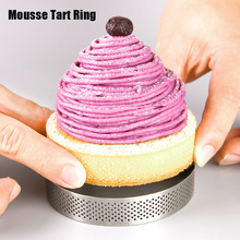 Stainless Steel Cake Mold Mousse Tart Ring Circle Round Kitchen Baking Tool DIY Cheese Moulds for Party