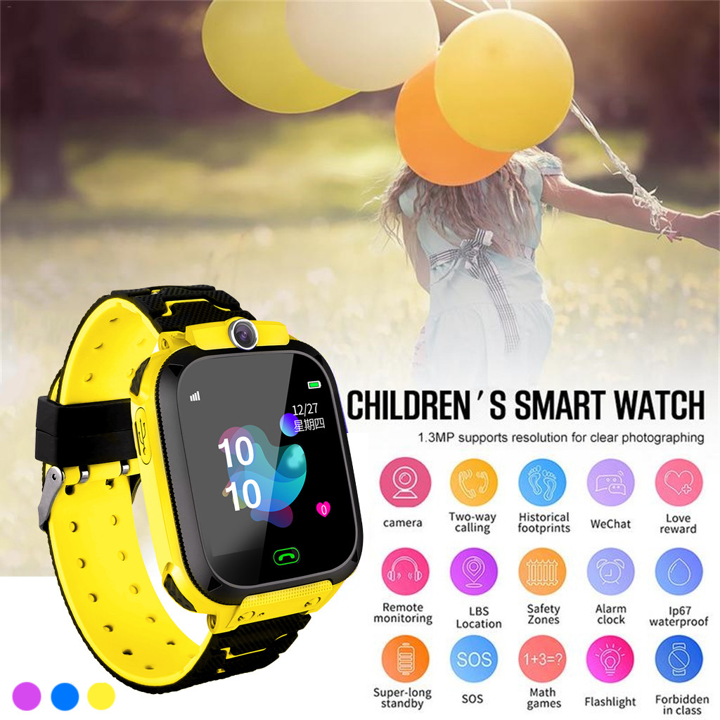 Permalink to Children's watch GPS smart phone watches swimming baby clock waterproof SOS device tracker locator child safety anti-lost device
