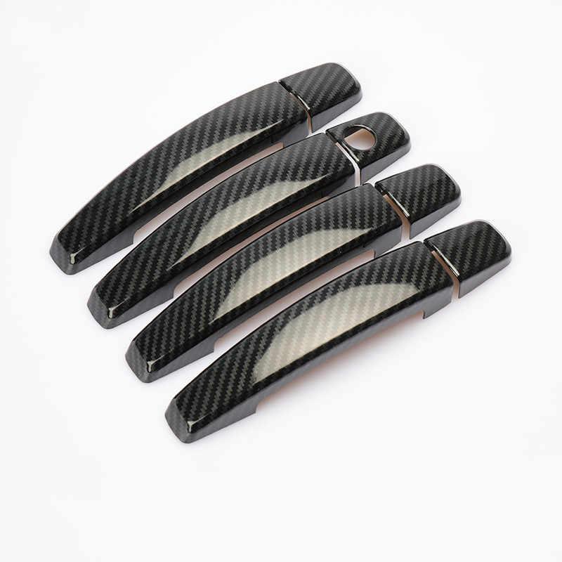 Pour OPEL Astra H 2004-2009 OPEL Astra J 2010-2015 Vauxhall Chrome fibre de carbone voiture porte poignée couverture garniture autocollants accessoires