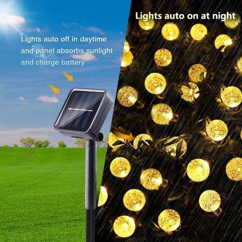 lampadas solares led bola luz corda casamento