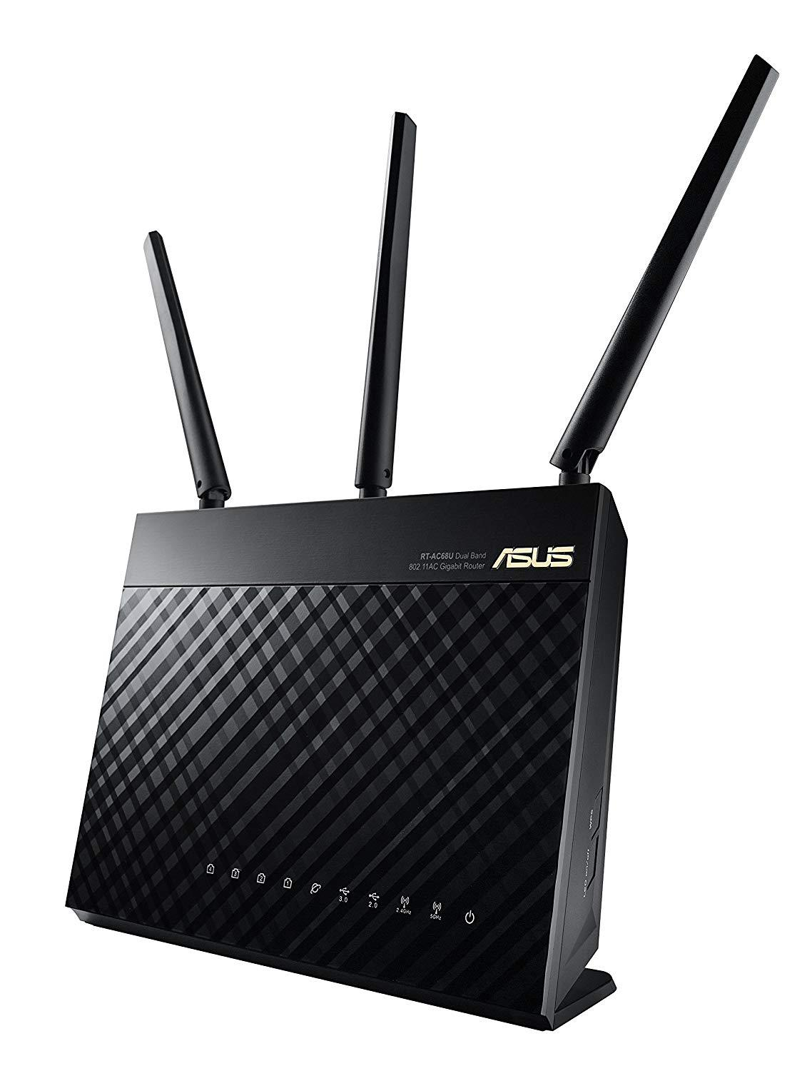 ASUS RT-AC68U Whole Home Dual-Band AiMesh WI-FI Router Upgradable Merlin AC1900 1900 Mbps AiProtection Network Security By Trend