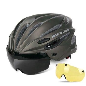 GUB K80 Cycling Helmet with Visor Magnetic Goggles Integrally-molded 58-62cm for Men Women MTB Road Bicycle  Bike Helmet 7