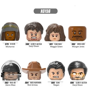 Building Blocks Heroes Bricks Michonne Daryl Dixon Green Glenn Rhee Morgan Figures For Children Model Toys Head X0156 image