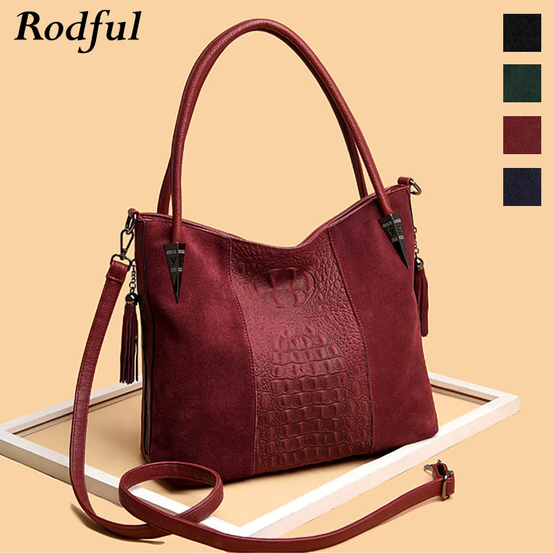 Fashion Large Capacity Tote Bag Female Suede Leather Shoulder Bag Women's Handbags Casual Ladies Hand Bags Winter Autumn 2019