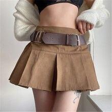 Gonna a pieghe Sexy a vita alta moda donna estiva Streetwear bianco sopra il ginocchio Mini abito da ballo corto gonna sportiva Casual