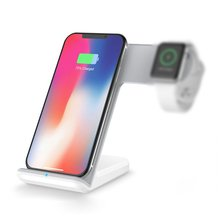 2-In-1 Fast Wireless Charger Pc+Abs+Silicone Suitable For Iphone Apple Watch Android Universal