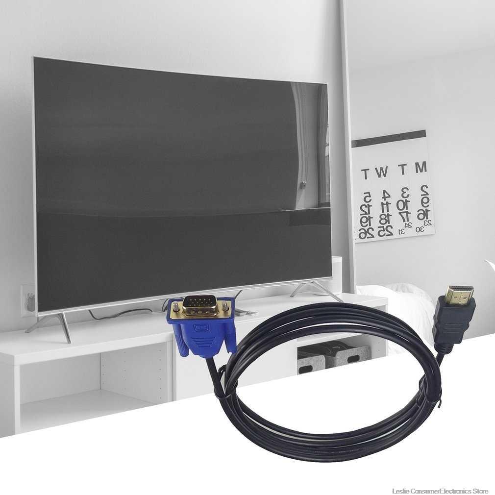 1 メートルの HDMI ケーブル HDMI Vga 1080 1080P Hd オーディオアダプタケーブル HDMI VGA ケーブルドロップシッピング