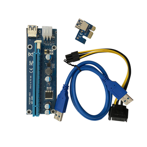 Image 3 - 10 قطعة VER006C PCIe 1x إلى 16x اكسبرس الناهض بطاقة Pci e الناهض موسع 60 سنتيمتر USB 3.0 كابل SATA إلى 6Pin الطاقة للتعدين BTC