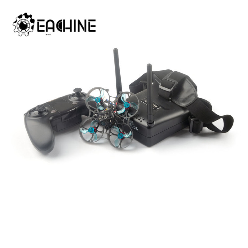 Eachine Novice-I 75mm 1-2S Whoop FPV Racing Drone RTF & Fly More W/ WT8 2.4G Transmitter 5.8Ghz 48CH With VR005 Goggles