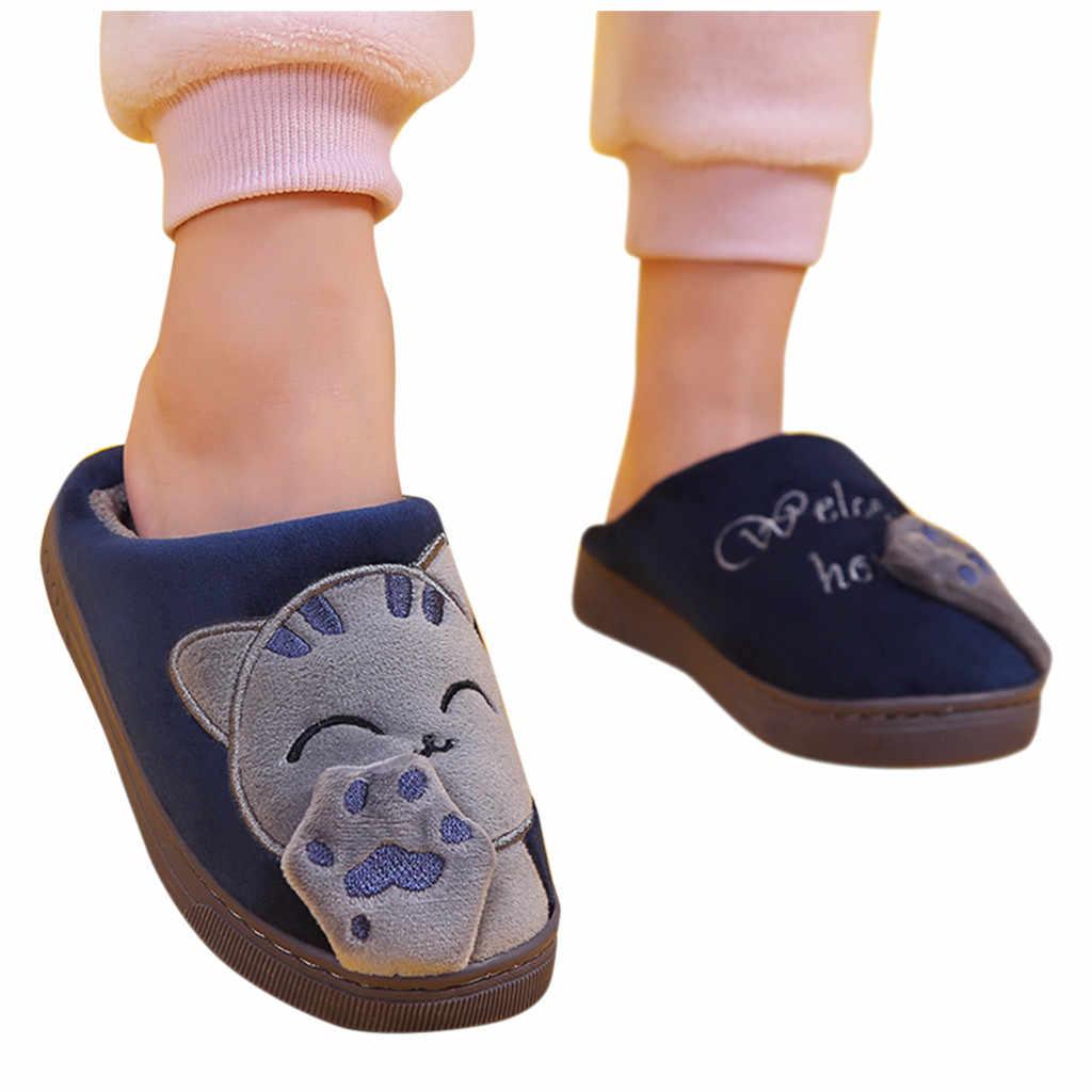 Peuter Kids Slippers Baby Jongens Meisjes Winter Slippers Cartoon Kat antislip Thuis Binnenshuis Schoenen Hotel Slippers Тапочки Kapcie 2019