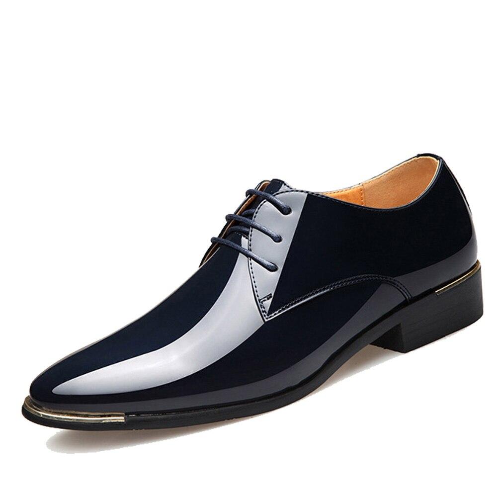 NPEZKGC 2020 nuevos hombres de calidad Zapatos de charol Zapatos de hombre tamaño 38-47 38-47 38-47 negro de cuero suave de cuero hombre Zapatos de vestir