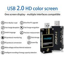 FNB38 Current And Voltage Meter USB Tester QC4+ PD3.0 2.0 PPS Fast Charging Protocol Capacity Test