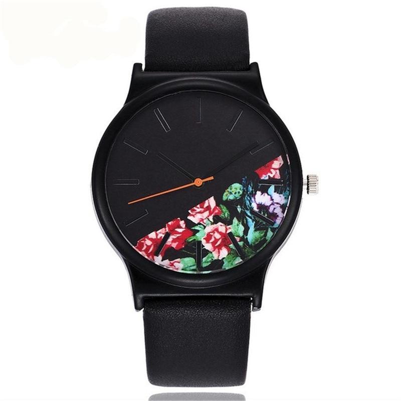 Watch Wrist Relogio Feminino Montre FemmeBlack Flower Watch Women Watches Ladies 2019 Brand Luxury Famous Female Clock Quartz