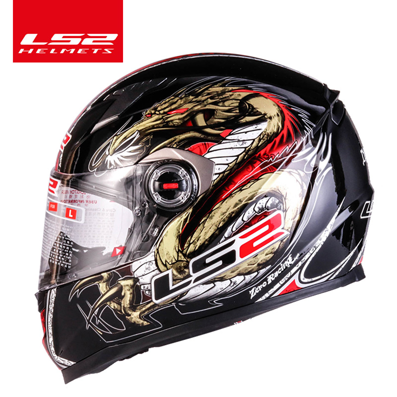 Original LS2 Full Face Motorcycle Helmet High Quality Helm Capacete Casque Moto Ls2 Ff358 Rhinoceros No Pump ECE Approved
