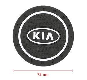 Image 2 - 2pcs רכב אוטומטי מים כוס חריץ החלקה מחצלת אביזרי עבור KIA sportage ceed kia sorento אביזרי 2017 2018 אביזרי רכב