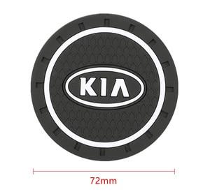 Image 2 - Accesorios para coche KIA sportage ceed kia sorento, 2 uds., ranura para tazas de agua, alfombrilla antideslizante, accesorios para coche 2017 2018