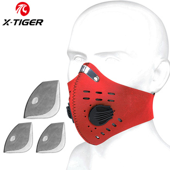 X-TIGER Cycling Face Mask PM 2.5 Bike Mask Activated Carbon Breathing Valve Sports Masks With Anti-Pollution Filter 22