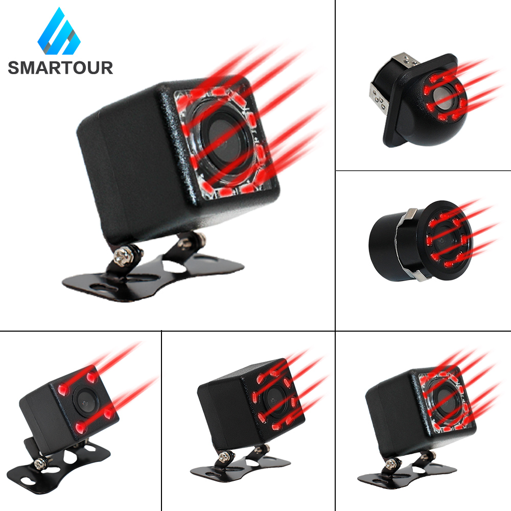 Smartour Auto CCD HD Car Backup Reverse Camera Parking Aid Universal Camera Front Rear View Camera Waterproof Infrared Led