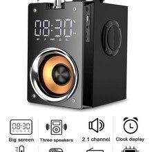 Супер бас Bluetooth колонки Портативная колонка Высокая мощность 3D стерео сабвуфер музыкальный центр поддержка AUX TF FM радио HIFI Бумбокс