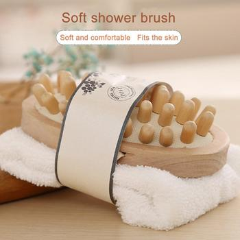 Eco Friendly Women Man Girl Kid Baby Bath Spa Essentials Bath Set With Pumice Stone Sponge Wooden Massager Brush Soap Gift Set 5