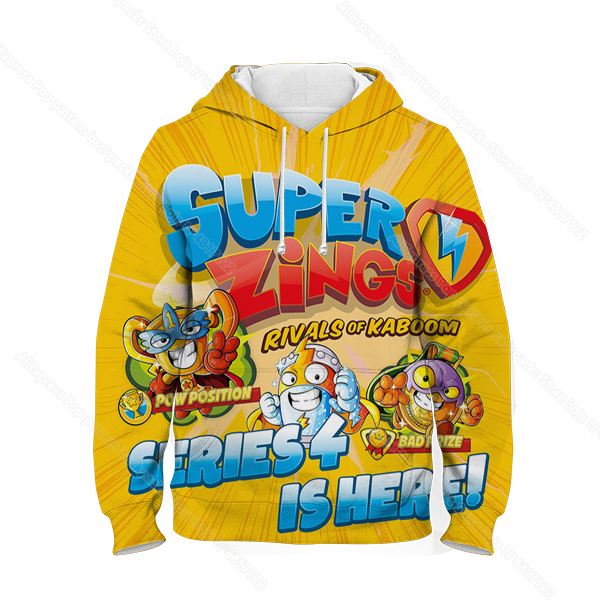 Kids 3D Print Super Zings Hoodie Autumn Winter Children Superzings 6 Series Sweatshirt Sudadera Boy Girl Cartoon Anime Pullover 34