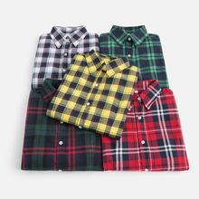 Новинка осени, Брендовые женские блузки с длинным рукавом, хлопковые фланелевые рубашки в клетку, женские повседневные рубашки размера плюс, женские блузки 28 цветов