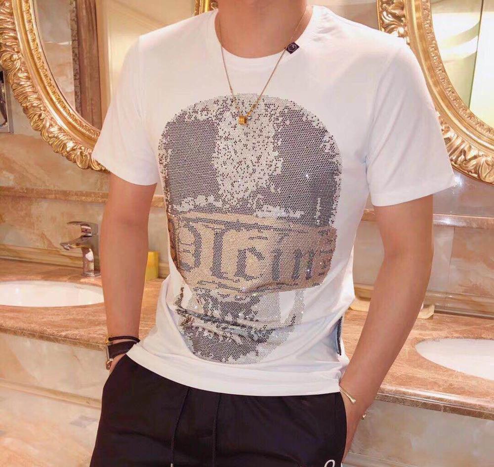 2019 Men's Casual Cheap Qplein T-shirt Letter Print Cotton T-shirt Clothing T Shirts For Men Tops Short Sleeve