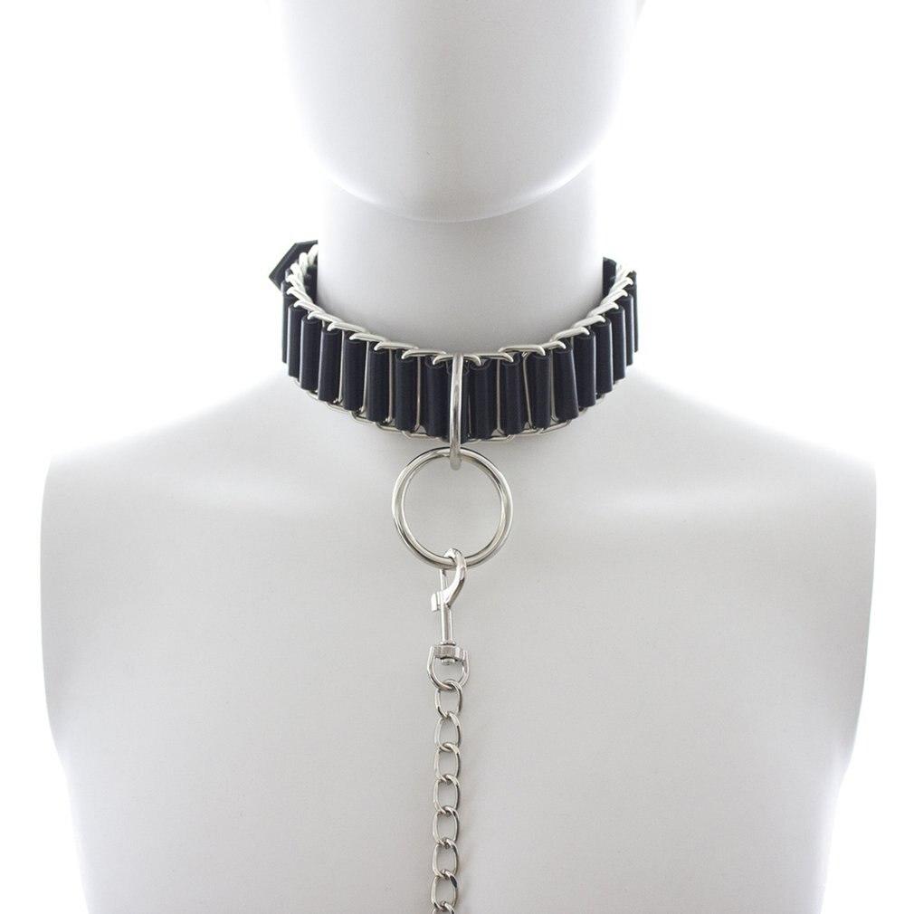 SM Products Couples BDSM Bondage Set Collar Leash Flirting Supplies Alternative Tethered Dog Chain Fetish Adult