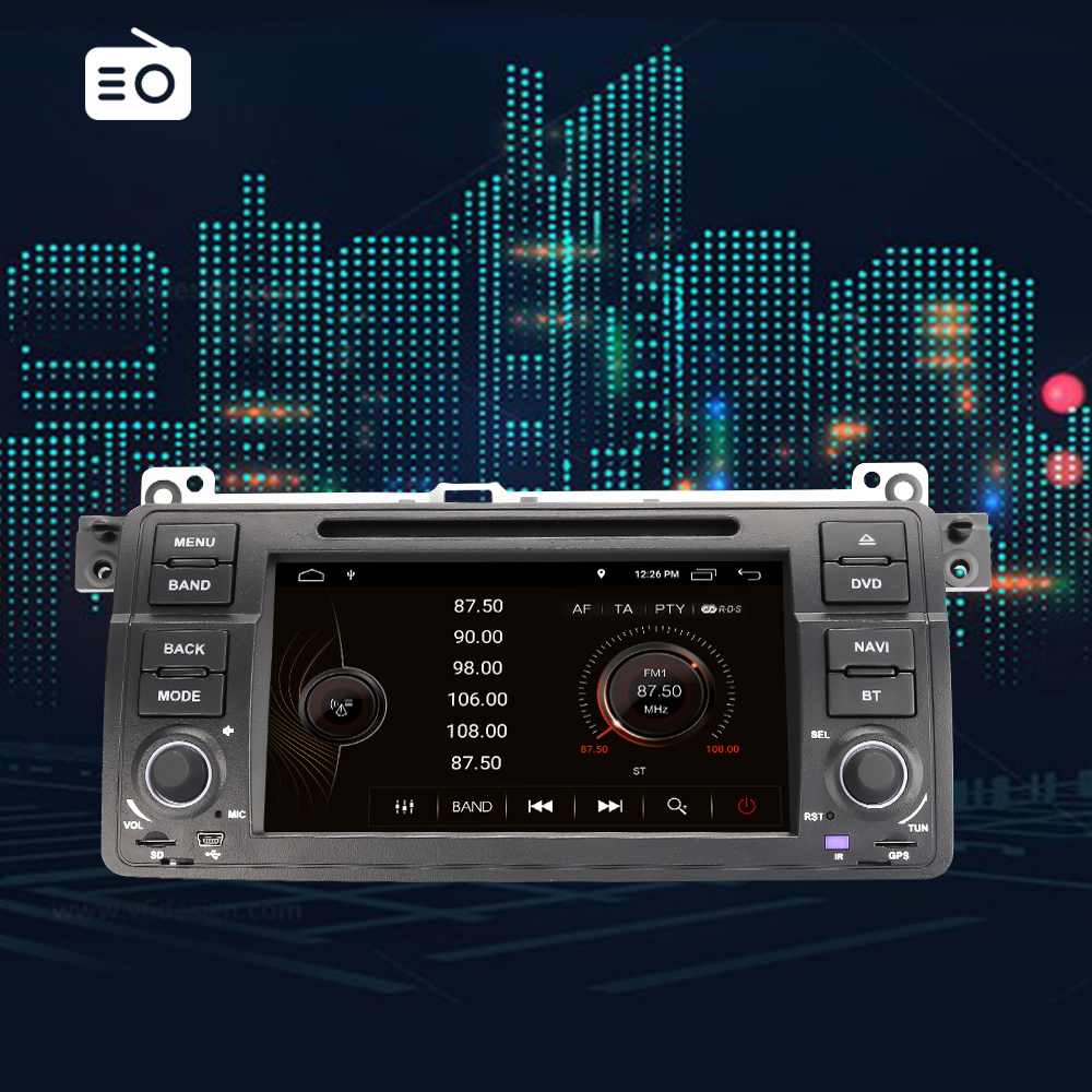 Eunavi 1 Din Android 9.0 Auto Dvd speler Voor Bmw E46 M3 Rover 3 Serie 7 Inch Radio Stereo Gps navigatie Head Unit Wifi Dsp Usb - 6