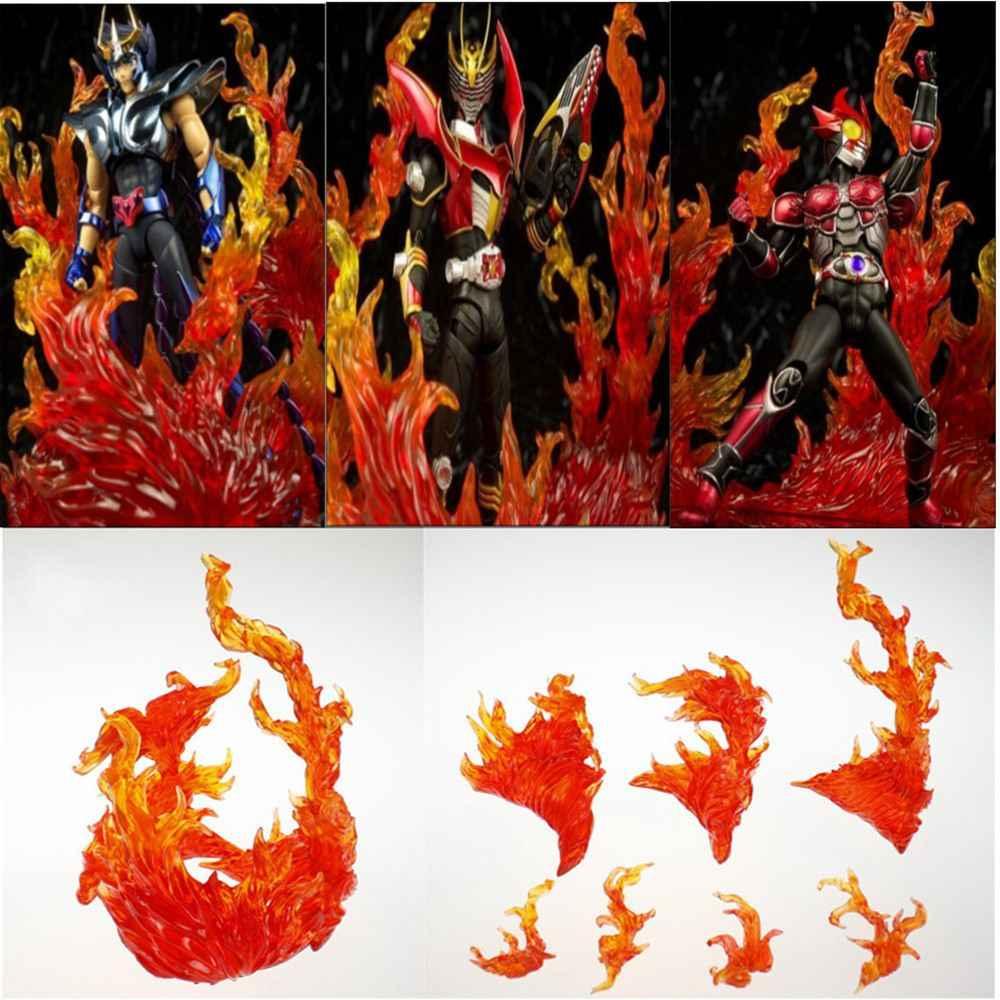 Estrela Efeito de Queima de Alma Chama Chama Vermelha Correção Para Impacto Efeito Gundam Bandai Tamashii Saint Seiya Brinquedos Figura de Ação