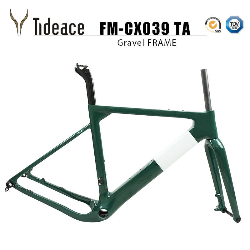 Tideace 2019 sonrası dağı Aero çakıl bisiklet şasisi S/M/L disk bisiklet karbon çakıl çerçeve QR veya aks