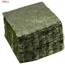 100 pièces AAA haute qualité comestible sushi Nori algues usine en gros vert foncé secondaire cuisson Nori sushi algues top vente