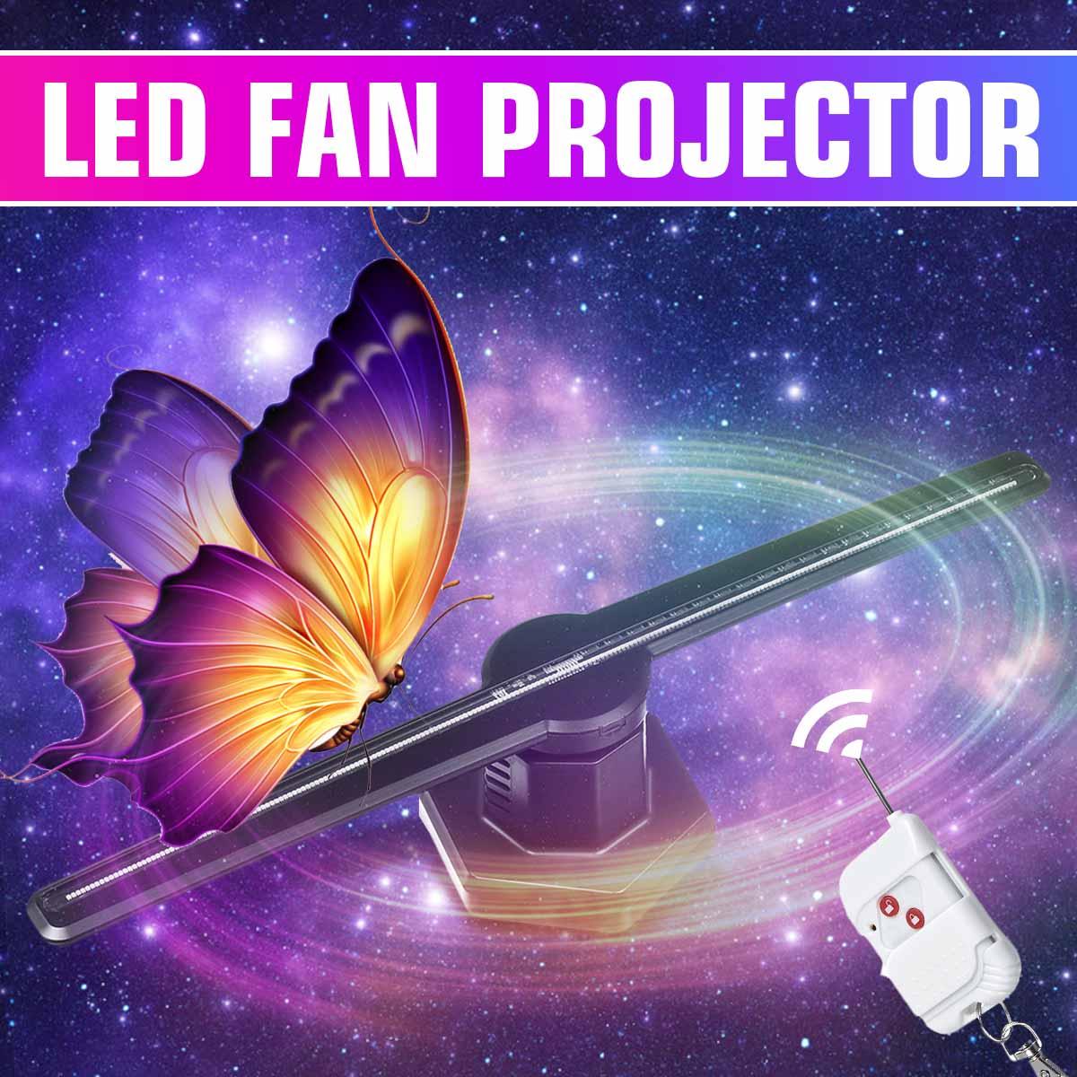 Smuxi 224LED Wifi 3D Holographique Projecteur Hologramme Joueur LED Affichage Lampe D'imagerie Ventilateur Publicité Lumière Télécommande