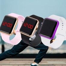 Neue Frauen Männer Unisex Sport Uhr Silikon Strap Elektronische Digitale LED Uhr Military Armbanduhr Relogio Masculino