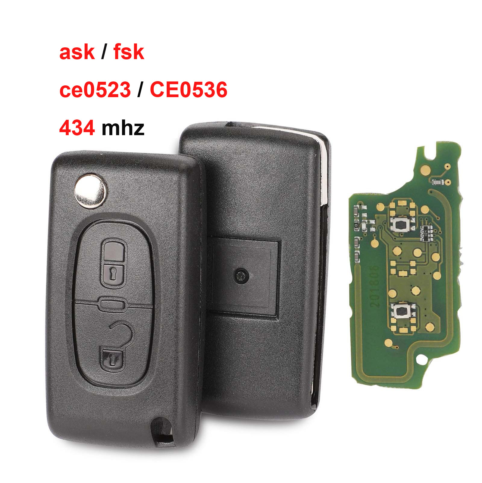 Jingyuqin 434Mhz ASK FSK For Peugeot 107 207 307 308 407 607 For Citroen C2 C3 C4 C5 C6 C8 Xsara Picasso CE0523 Ce0536 VA2/HCA