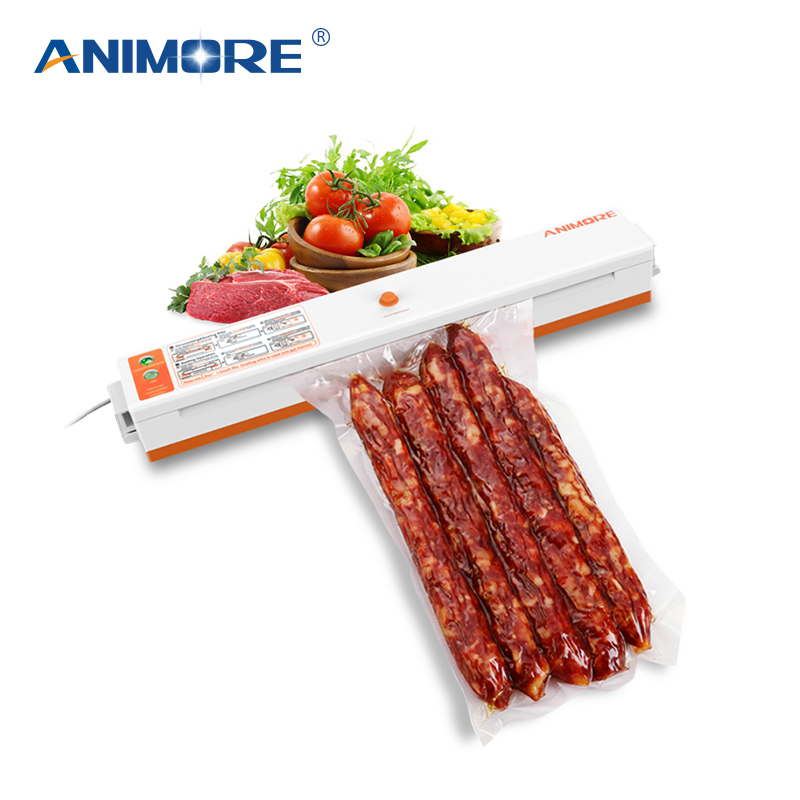 ANIMORE Household Vacuum Food Sealer 220V/110V Packaging Machine Film Sealer Vacuum Packer Including 10 Pcs Bags VFS-02