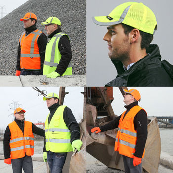 Visera para hombre, sombreros para exteriores, gorra de béisbol ajustable de alta visibilidad, seguridad Hi-Vis, amarillo, naranja