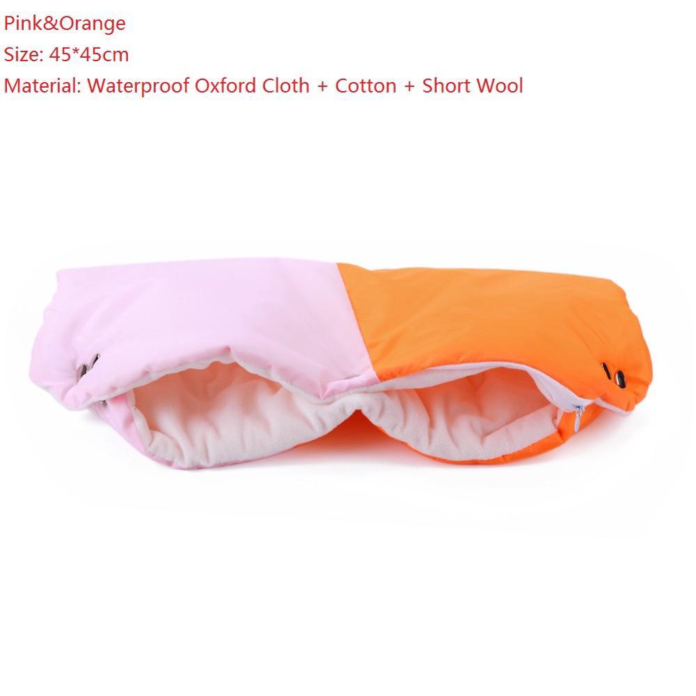 Warme/зимние варежки на коляску, ветрозащитные перчатки для новорожденных, непромокаемые флисовые Детские коляски, аксессуары - Цвет: A