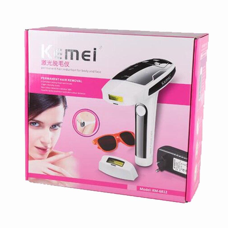 KEMEI KM-6812 Laser épilateur dame corps complet épilation Machine Photon Permanent indolore Bikini tondeuse électrique rasoir