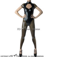 Черный и прозрачный черный сексуальный латексный костюм кошки