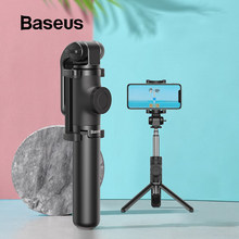 BASEUS Nirkabel Bluetooth Selfie Stick untuk iPhone/Android/Huawei Foldable Handheld Monopod Shutter Remote Dapat Diperpanjang Mini Tripod(China)