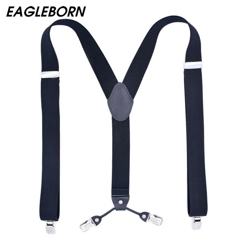 New Men Suspenders Spots Black Navy Blue Suspenders Adjustable Suspenders Braces Husband Men Shirt Strap Polyester Elastic Belt